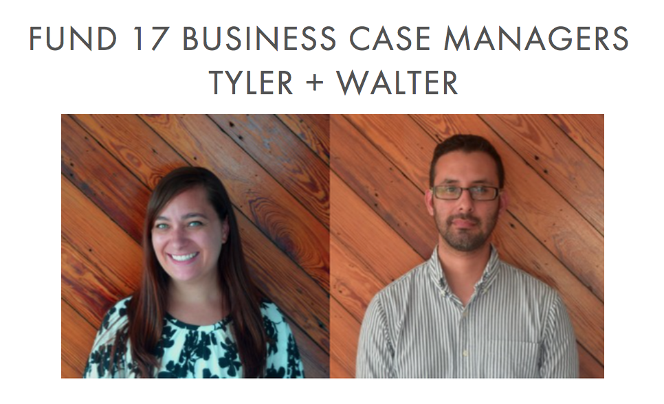 FUND 17 BUSINESS CASE MANAGERS